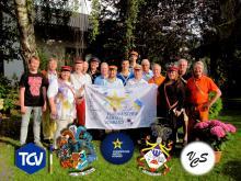 Die C.Ö.St.V. Arcadia Wien überreicht die Fahne an die K.D.St.V. Bayern München